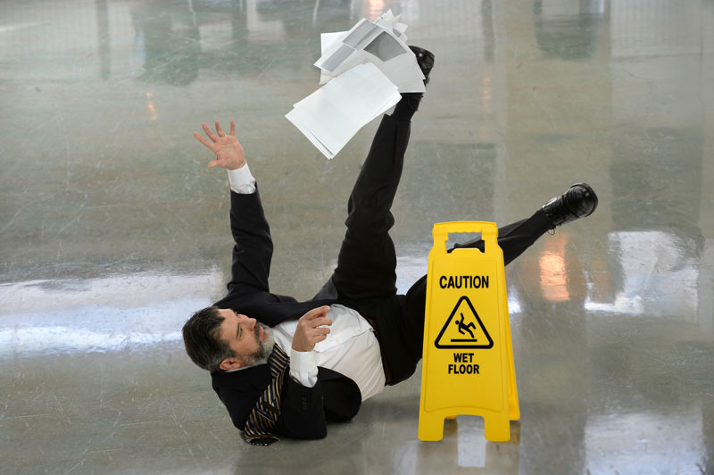slip and fall at work